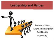 Leadership and Values by krishna