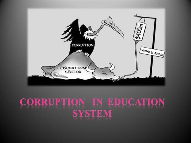 corruption in education system in authorstream
