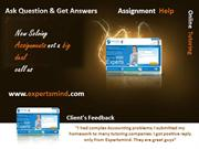 Ask Question Get Answers, Homework Help, Online Tutoring
