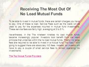Receiving The Most Out Of No Load Mutual Funds 49