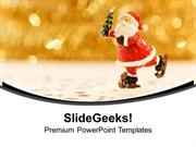 CHRISTIAN SANTA CLAUSE WILL COME YOUR HOME PPT TEMPLATE