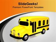 TRAVEL GO TO SCHOOL BY BUS PPT TEMPLATE