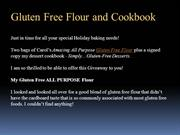 Gluten Free Flour and Cookbook