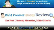 Blog Content Buddy: Free Auto Blog Software, and Marketing Training