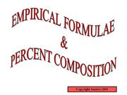 Empirical Formula and Percent Compositon