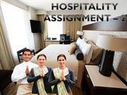 HOSPITALITY 2ND ASSGNMNT