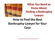 Finding a Good Bankruptcy Lawyer