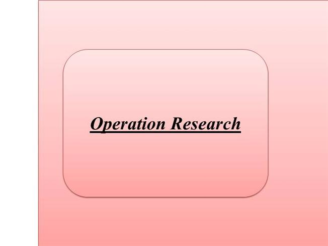 RTU  Question Papers       Semester   ME   Operation Research   AglaSem Michael Trick s Operations Research Page