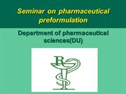 PROJECT on preformulation studies