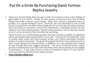 Put On a Smile By Purchasing David Yurman