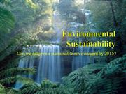Environmental Sustainability Powerpoint