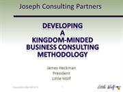 Joseph Consulting Partners - Methodology & Launch