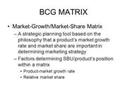 BCG MATRIX |authorSTREAM