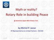 Myth or reality? The Rotary role in building peace