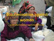 Discrimination against women