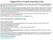 Simplest Way to Transfer from iPad to Mac