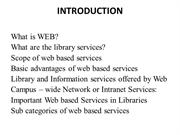 Web based Library services in Tamil Nadu Universities ppt