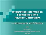 Integrating Information