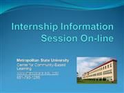 Internship Information Session On-line