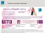 Financial Planning Seminars for women from Australian Catholic Super