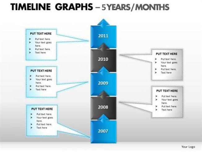 5 Years Business Planning And Growth Timeline Chart Powerpoint Diagram