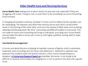 Elder Health Care and Nursing Services