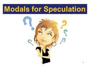 Modals for Speculation
