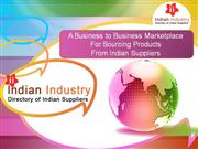 Directory of Indian Suppliers, Manufacturers & Exporters in India