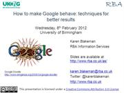 How to make Google Behave
