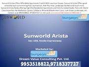 Sunworld Arista Noida | 9953518822, 9718337727 | Arista Noida 168