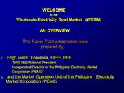 EPIRA WESM OVERVIEW