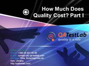 How Much Does Quality Cost