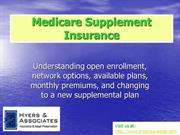 Medicare Supplement Information