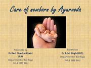 Care of New born by ayurveda