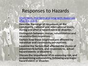 Responses to Hazards