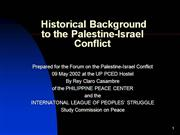 History of the Israel-Palestine Conflict
