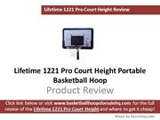 Lifetime 1221 Pro Court Portable Basketball Hoop