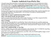 Transfer Audiobook from iPod to Mac
