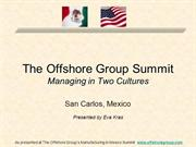 Mexico and The United States Managing in Two Cultures