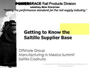 Mexico Supplier Base in Saltillo