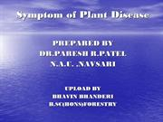 Symptoms of plant Diseases