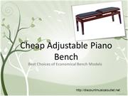 Cheap Adjustable Piano Bench – Best Choices of Economical Bench Models