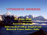 cytogenetic disorder