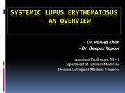Systemic lupus erythematosus - overview