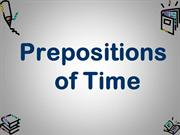 Preposition of Time