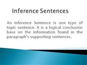 Inference Sentences