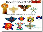 Different types of kites