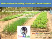Microinsurance for Building DRR & CCA Resilient Community -Cambodia