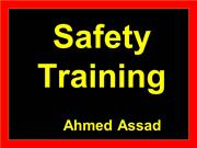 Safety Training Ahmed Assad