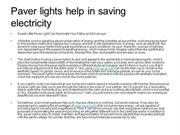 Paver lights help in saving electricity